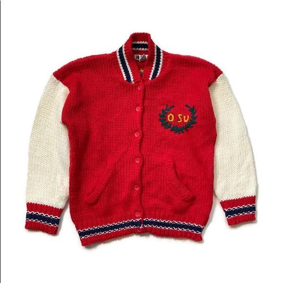 American Vintage Sweaters - 80's Vintage Varsity Style Cardigan